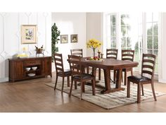 New Classic Lanesboro Dining Table, 4 Chairs & 2 Chairs Free LANEDINE