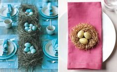 Marbleized Egg Table Setting   Easter + Spring Table Decor