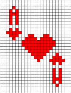 Ace Of Hearts Playing Card Perler Bead Pattern / Bead Sprite