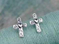 Baby Cross Earrings by Island Cowgirl Jewelry