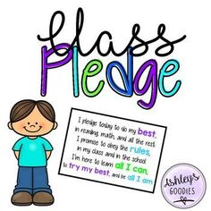 This Class Pledge is a great start to the morning. It holds kids accountable for their actions. This pledge is a two page printable. Tape it together and laminate. I explain the pledge on the first day of school and have each child sign a piece of paper that is placed under the pledge as a reminder of what they agreed to.Follow My store for new products, updates, and sales! Check me out on Facebook!