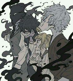 League of Villains, villains, Tomura, Himiko, Dabi, Kurogiri; My Hero Academia