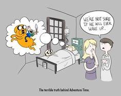 Si esto fuera cierto, estaría al mismo nivel de tristeza que el final de Calvin y Hobbes...