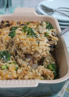 Loaded with parmesan, cheddar and mozzarella, this Three Cheese Chicken Broccoli and Orzo Casserole will not disappoint!