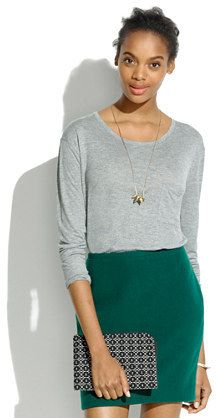 Madewell Long-Sleeve Drape Tee  | #Chic Only #Glamour Always
