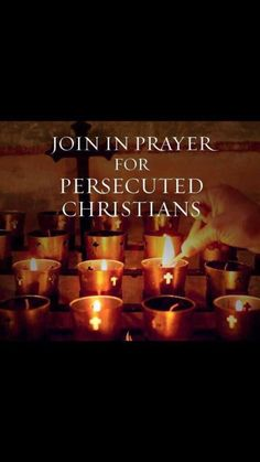 Join in prayer for Persecuted Christians