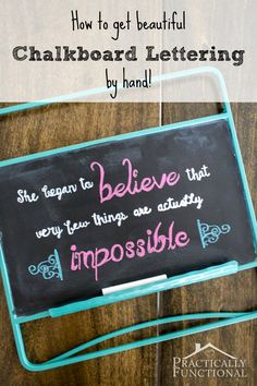 How to get perfect chalkboard lettering by hand, even if your handwriting is bad!