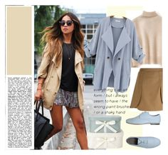 """""""pastel trench coat"""" by fanggg ❤ liked on Polyvore featuring Tory Burch, Rokin, women's clothing, women's fashion, women, female, woman, misses, juniors and minimal"""