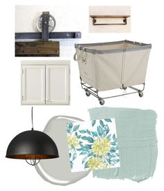 """Laundry room"" by blessed-cre8ivity on Polyvore featuring interior, interiors, interior design, home, home decor, interior decorating, Crate and Barrel, Martha Stewart, Benjamin Moore and Osborne & Little"