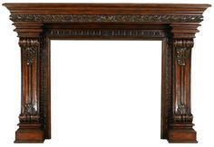 Casa Bella Fireplace Mantel Dark. h1Casa Bella Fireplace Mantel Dark_h1Casa Bella Fireplace Mantel Dark.Casa Bella Fireplace Mantel Dark by Ambella Home. This mantel is crafted from solid New Zealand pine. Finished in a dark mahogany with numerous carving.. . See More Mantels at http://www.ourgreatshop.com/Mantels-C1052.aspx
