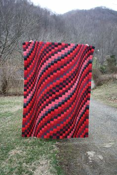 Anthony? Bargello Quilt Patterns, Bargello Quilts, Jellyroll Quilts, Scrappy Quilts, Quilt Patterns Free, Watercolor Quilt, Quilting Board, Contemporary Quilts, Patch Quilt
