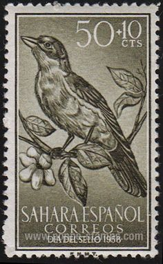 Spanish Sahara SG#152 Mint - 1958 50c.+10c. - Birds, Day of - bidStart (item 5438799 in Stamps... Spanish Sahara)
