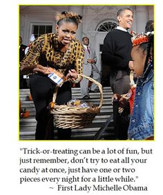 Michelle Obama on Trick or Treating