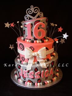 Diva Sweet 16 — Whimsical / Topsy Turvy Cakes cakepins.com