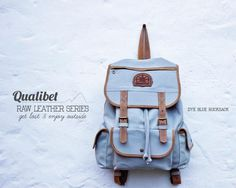 RAW LEATHER SERIES Leather Backpack, Backpacks, Blue, Clothes, Shoes, Collection, Products, Suitcases, Totes