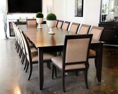 Long #boardroom #tables are something of a specialty at #Canadel #Furniture. Coming in a range of sizes from 36in round or square 2-seater up to a #grandiose 48in by 168in 16-seater