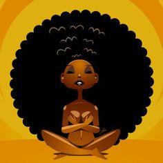 Black Women Art Natural Hair