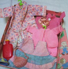 Doll clothes and accessories by the vintage cotttage