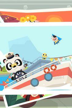 Dr Panda vient juste de sortir son nouvel opus sur les vacances. Il invite les enfants à découvrir son bateau et à partir en croisière avec lui. On adore cet univers enfantin qui laisse libre cours à l'imaginaire. https://app-enfant.fr/application/pars-en-croisiere-avec-dr-panda-vacances/