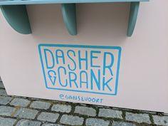 Dasher & Crank, named for two components of an ice-cream machine. Artisan, Ice Cream, Symbols, Shop, Crafts, No Churn Ice Cream, Manualidades, Icecream Craft, Craftsman