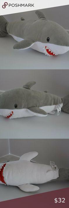"NWT Fiesta Toys Lil Huggy Stan Shark Stuffed Toy 7/"" Animal Plush Extra Soft."