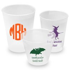 Personalized Shatterproof Reusable Cups