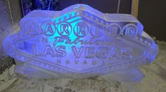 Vegas sign ice sculpture designed for a client in Leeds- check out the doctored 'Married' wording.. #weddingicesculpture #eventplanning #weddingplanning #vodkaluge