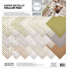 we r memory keepers sheer metallic collection 12 x 12 paper pad