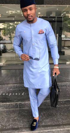 African men's clothing / African fashion/ wedding suit/dashiki / African men's shirt/ vêtement africain/ chemise et pantalon/ Ankara styles African Wear Styles For Men, African Dresses Men, African Clothing For Men, African Shirts, African Attire, African Style, Nigerian Men Fashion, African Men Fashion, Mens Fashion