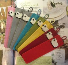 Marcapáginas de fieltro  felt sheep Bookmark