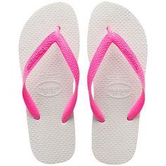 45857e60f As Legítimas Havaianas em Branco e Rosa