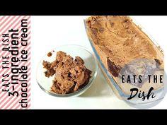 CHOCOLATE ICE CREAM | ONLY 3 INGREDIENTS | NO EGGS NO ICE CREAM MACHINE | HOMEMADE | EATS THE DISH - YouTube Chocolate Ice Cream, Recipe Please, The Dish, 3 Ingredients, Eggs, Homemade, Make It Yourself, Dishes, Breakfast
