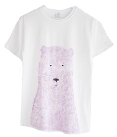 Super cute hand painted grizzly bear tee.  Shop the look at NYLONshop http://shop.nylonmag.com/collections/whats-new/products/hand-painted-grizzly-tee-1