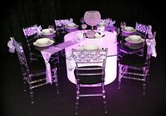 The latest craze - Illuminated Furniture for a spectacular High School Formal. Hire @ Alan Casey Entertainment Agency