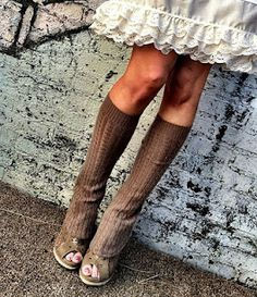 leg warmers from sweaters?? yes please! I am in love with this idea!