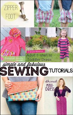 Found these easy sewing tutorials. For more DIY fashion and sewing tutorials, check out http://www.sewinlove.com.au/tag/tutorial/