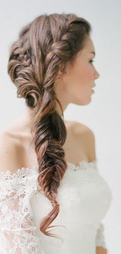 This is so beautiful, perfect for a vintage wedding! :: Bridal Braid:: Vintage Wedding Hairstyles:: Braids:: Wedding Hair