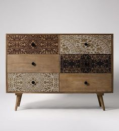 Swoon Editions Chest of Drawers, mid century style in grey wash - £399