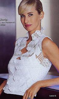 Crochet Flamenco: Colete com gráficos