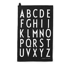 Design Letters AJ Theedoeken 2 stuks - Zwart