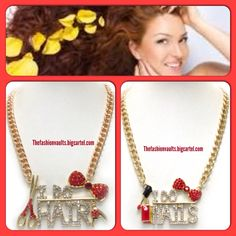 S/O 2 all my fellow beauticians. These fabulous necklaces are a great way to break the ice with a potential client or promote yourself!  Only $16 plus free gift with purchase!!! Www.thefashionvaults.bigcartel.com