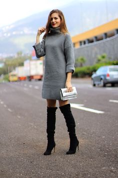 Marilyn s Closet - FASHION BLOG  KNIT DRESS. speedi, speeedi · overknee  boots b6fcb9970f