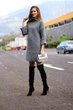 Marilyn s Closet - FASHION BLOG  KNIT DRESS. speedi, speeedi · overknee  boots b6fcb9970f
