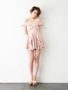 テレコオフショルダーワンピ(ミニワンピース)|Rosarymoon(ロザリームーン)|ファッションウォーカー