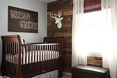 Daddy would love this. haha baby boy nursery ideas - take that deer head away...please