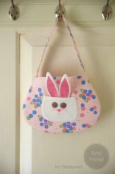 Heat n Bond Easter Bunny Bag - Free Sewing Tutorial by Amy Friend for Thermoweb + Heat and Bond Fusible Web Video Tutorial
