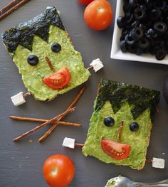 This toast is ready for Halloween.