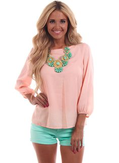 Lime Lush Boutique - Peach Sequin Bow Back Top , $46.99 (http://www.limelush.com/peach-sequin-bow-back-top/)