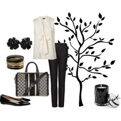 Casual Chic in black, created by pinkmagnolia