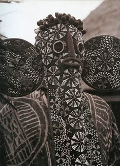 deliciousdimension: Dogon Tribal MasksThis 'elephant-mask' with its long hood nose and large ears, is decorated with multicoloured beads, is characteristic of a Bamileke secret society in West Cameroon, to whom it is unique. Alternative Kunst, Afrique Art, Art Tribal, Tribal Elephant, Art Premier, Art Africain, Art Brut, African Tribes, African Masks